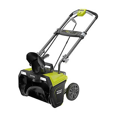 Ryobi 20 inch Ryobi 20 inch 40V Cordless Electric Snow Blower with Battery and Charger RY40833